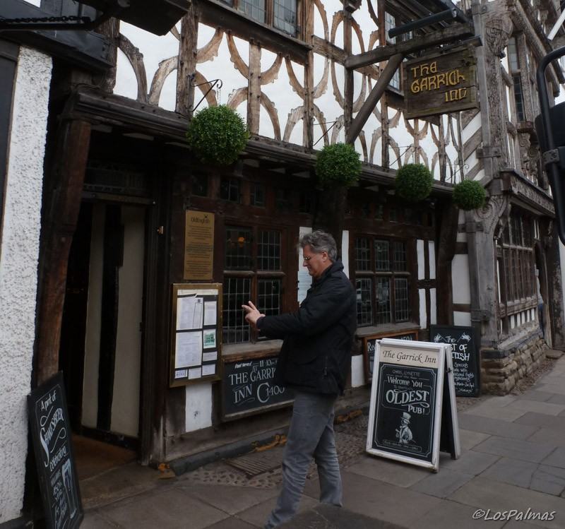 Entrada al The Garrick Inn en Stratford Upon Avon